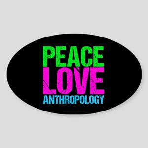Cute Anthropology Sticker (Oval)